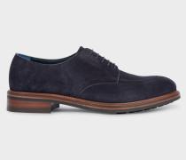 Dark Navy Suede 'Andrew' Derby Shoes