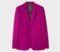 Tailored-Fit Purple Wool Blazer