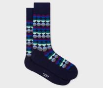 Navy 'Sunset Spot' Socks