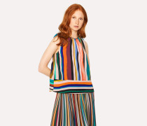 'Expressive Stripe' Sleeveless Shell Top