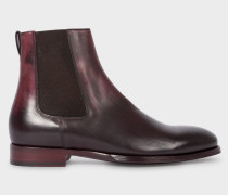 Aubergine Leather 'Joyce' Chelsea Boots