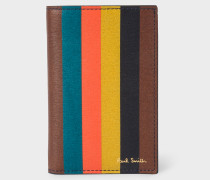 'Bright Stripe' Leather Credit Card Wallet
