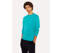 Turquoise Cashmere Crew Neck Sweater
