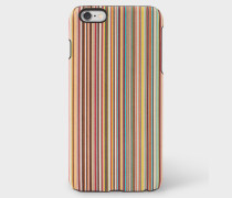Signature Stripe Leather iPhone 6 Plus Case