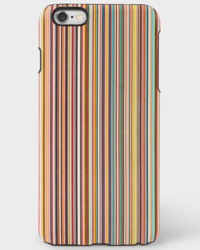 Signature Stripe Leather iPhone 6 Plus Case