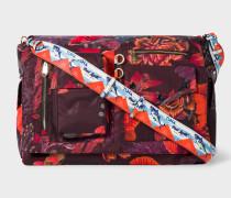 'Ocean' Print Micro-Ripstop Messenger Bag