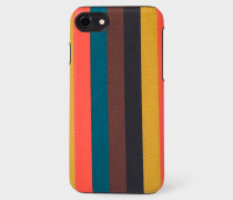 'Bright Stripe' Leather iPhone 7 Case