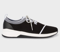 Black and White 'Mantis' Knitted Trainers