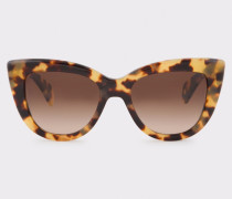 Umber Gradient And Spotty Tortoiseshell 'Lovell' Sunglasses