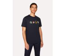 Navy 'Tools Of A Clown' Print Cotton T-Shirt