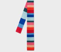 Multi-Coloured 'Artist Stripe' Knitted Silk Tie