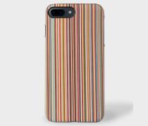 Signature Stripe Leather iPhone 7 Plus Case