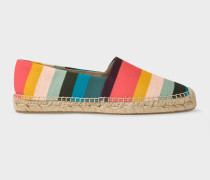 Artist Stripe Cotton-Canvas 'Sunny' Espadrilles