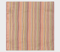 Signature Stripe Silk Pocket Square
