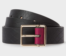 No.9 - Black Leather Belt With Contrast End