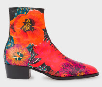 Red 'Ocean' Print 'Mapleton' Boots