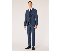 The Kensington - Slim-Fit Loro Piana Slate Blue Check Suit