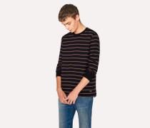 Black Violet-Stripe Long-Sleeve T-Shirt