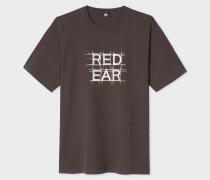 Charcoal 'Red Ear Grid' Print T-Shirt