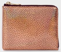 Bronze Leather Corner-Zip Wallet