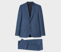 The Soho - Tailored-Fit Petrol Blue Birdseye Wool Suit