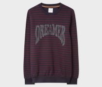 Breton Stripe Sweatshirt With Glitter 'Dreamer' Embroidery