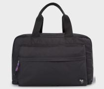 Black 'Zebra' Logo Duffle Bag