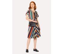 V-Neck 'Expressive Stripe' Print Dress