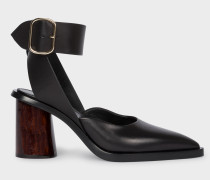 Black Leather 'Gaia' Sandals
