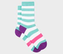 Turquoise Stripe Socks