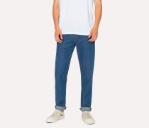 Tapered-Fit Blue Rinse 9.8oz 'West Coast Denim' Jeans