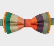 'Artist Stripe' Silk Bow Tie
