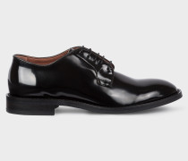Black Patent Leather 'Chester' Flexible Travel Shoes