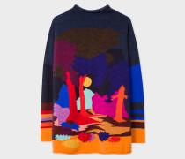 Wool-Blend 'Dreamer' Intarsia Wide Neck Sweater