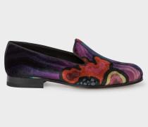 Velvet 'Dreamer' Print 'Rudyard' Loafers