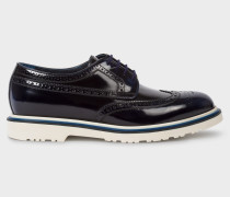 Dark Navy High-Shine Leather 'Crispen' Brogues