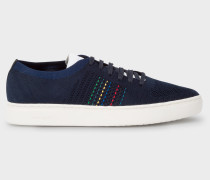 Navy 'Doyle' Knitted Trainers