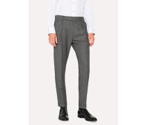 Tapered-Fit Wool And Silk-Blend Grey Tweed Trousers