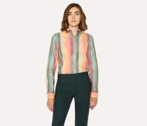 'Artist Stripe' Print Shirt With Glittered Cuff Linings