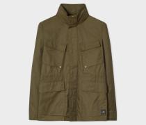 Khaki Cotton-Blend Field Jacket