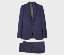 Tailored-Fit Indigo Wool-Mohair Suit