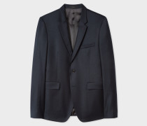 Slim-Fit Navy Wool And Cashmere Blazer