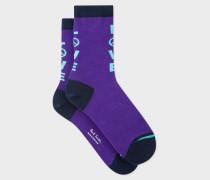 Purple 'Love' Socks