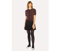 Black Wool Pleated Skirt