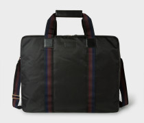 Black Webbing Stripe Suit Carrier