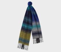Navy Fading Stripe Wool-Blend Scarf