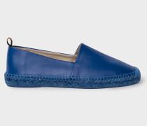 Blue Leather 'Sunny' Espadrilles