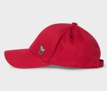 Red Cotton Zebra Logo Baseball Cap