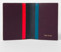 No.9 - Damson Leather Credit Card Wallet With Multi-Coloured Card Slots