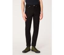 Slim-Fit 12oz 'Black Stretch' Denim Jeans